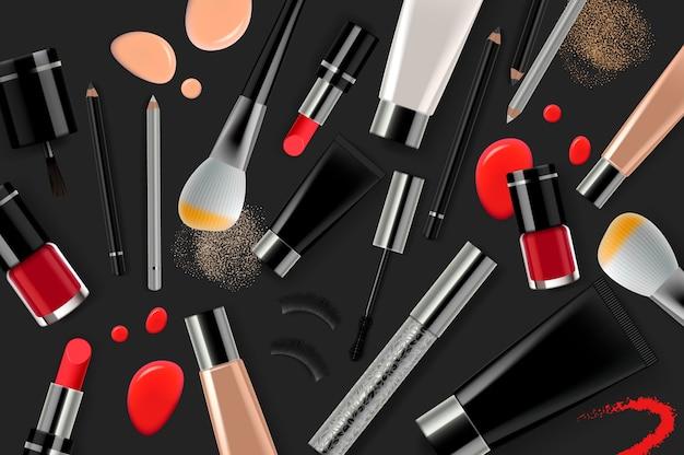 Make-up-produkte für den online-schönheitssalon.