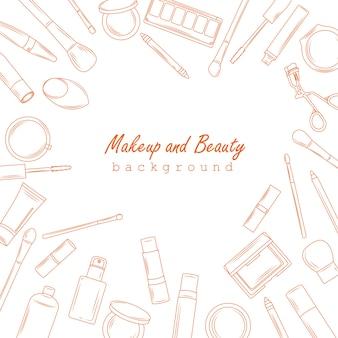 Make-up und schönheit hintergrund