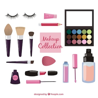 Make-up-utensilien ausrüstung