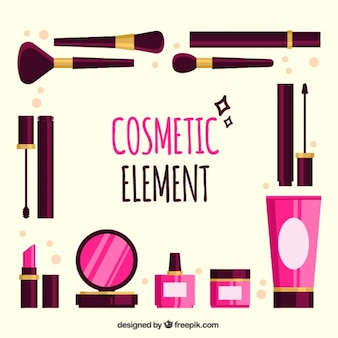 Make-up-utensilien gesetzt