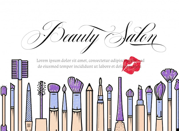 Makeup artist banner? beauty salon hintergrund