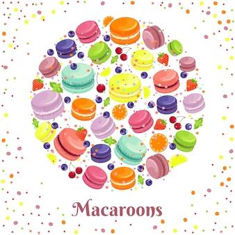 Makrone kekse rundes etikett.