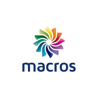Makros abstraktes logo