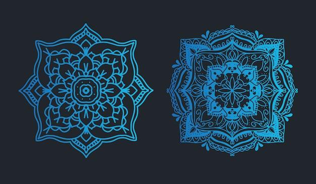 Mala im blauen farbsatzhochzeits-verzierungssatz