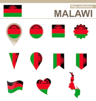 Malawi flag collection, 12 versionen