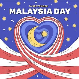 Malaysia tag mit herz