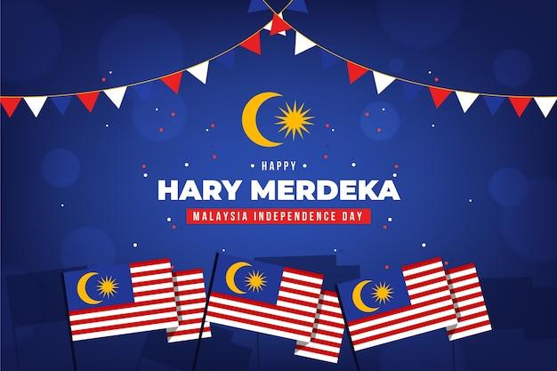 Malaysia unabhängigkeitstag konzept