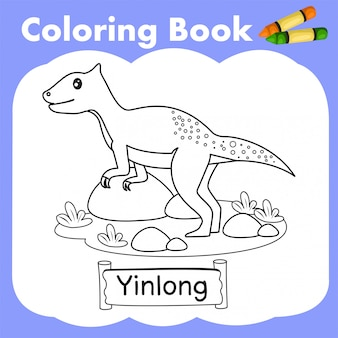 Malbuch dinosaurier yinlong