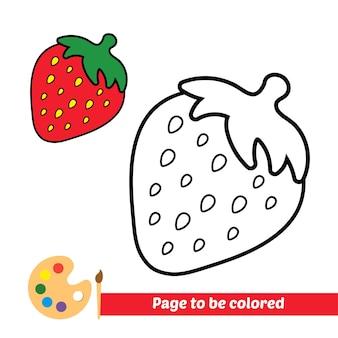 Malbuch für kinder erdbeervektor