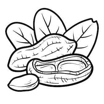 Malbuch für kinder, erdnuss