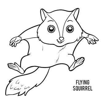 Malbuch für kinder, flughörnchen
