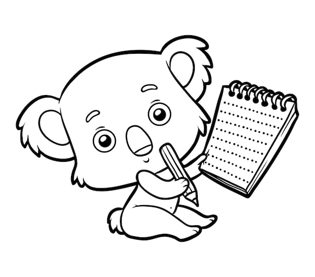Malbuch für kinder, koala