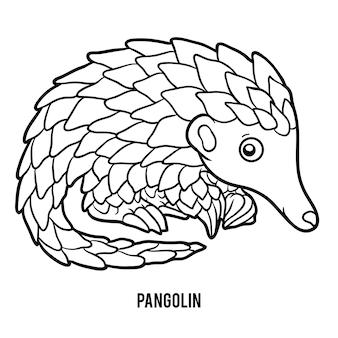 Malbuch für kinder, pangolin