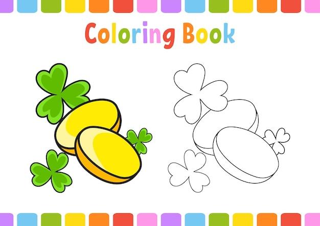 Malbuch für kinder st. patricks day