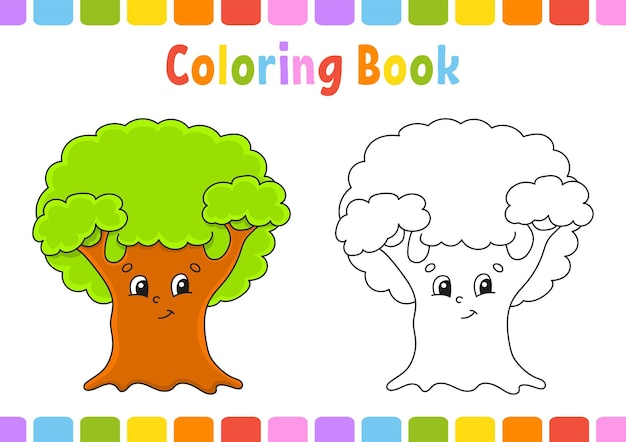 Malbuch für kinderbaum