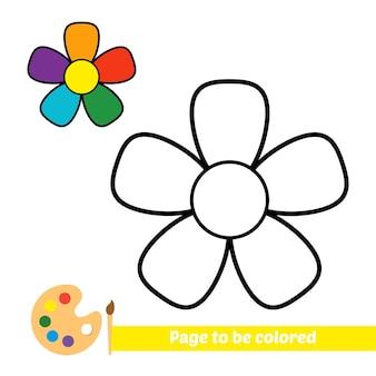 Malbuch für kinderblumenvektor