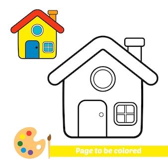 Malbuch für kinderhausvektor