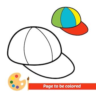 Malbuch für kindermützenvektor