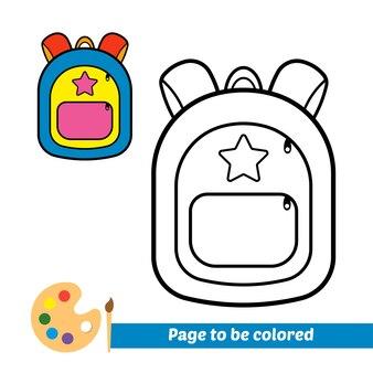 Malbuch für kindertaschenvektor