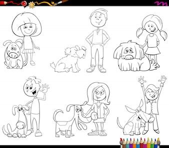 Malbuch für Kinder und Hunde