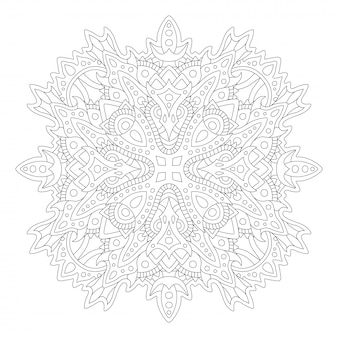 Malbuchkunst mit linearem abstraktem muster
