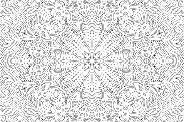 Malbuchseite mit abstraktem linearem muster
