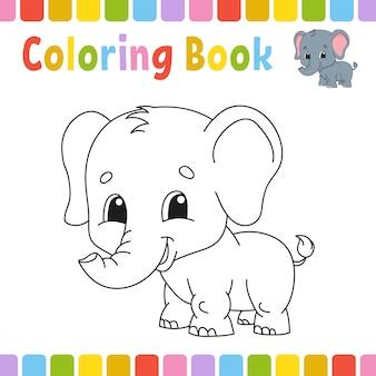 Malbuchseiten für kinder. nette karikaturillustration.