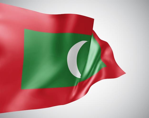 Malediven, vektor-3d-flagge isoliert auf weißem hintergrund