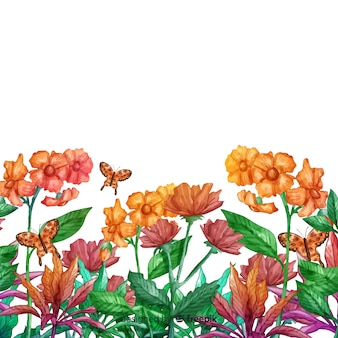 Malen sie botanischen hintergrund