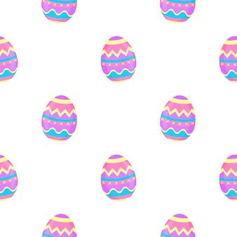 Malen sie eier nahtloses muster. dekorativer hintergrund für ostern