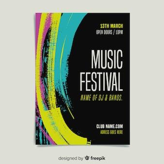 Malen sie musikfestival-plakatschablone