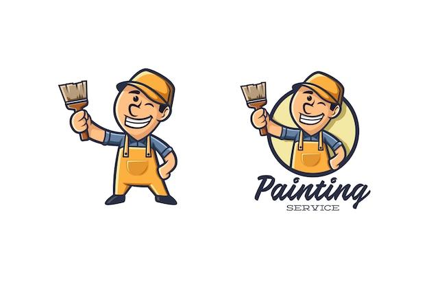 Malerei logo maskottchen