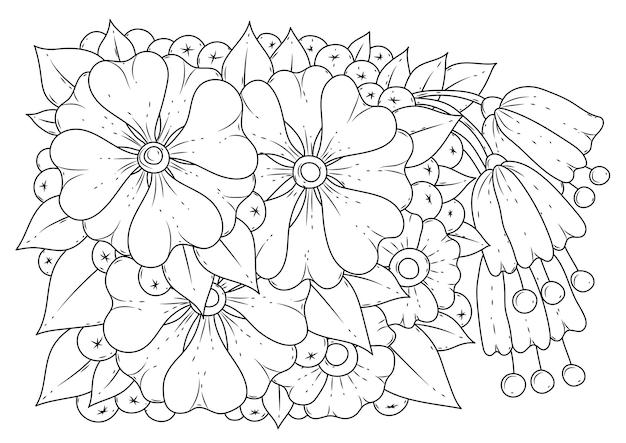 Malvorlage illustration schwarzweiss-kunstlinie