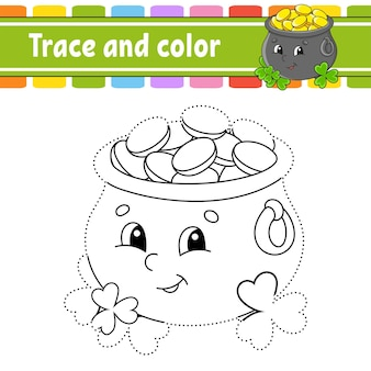 Malvorlagen für kinder nachzeichnen und ausmalen handschriftübungen st. patricks day