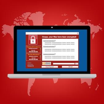 Malware ransomware-virus