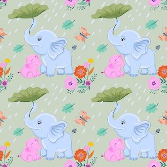 Mama und baby elefant vektor design.