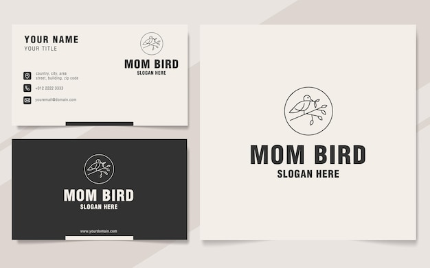 Mama vogel logo vorlage monogramm stil