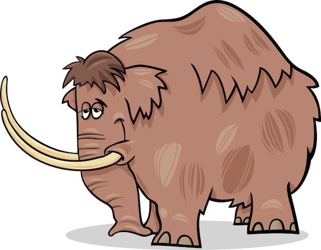 Mammut-cartoon-illustration
