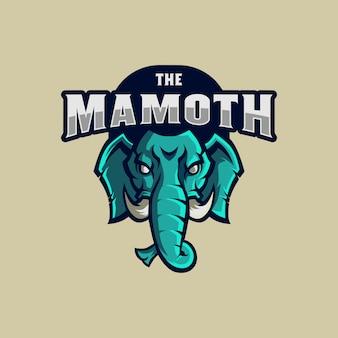 Mammut-logo-maskottchen