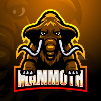 Mammut maskottchen esport illustration