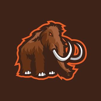 Mammut maskottchen logo design