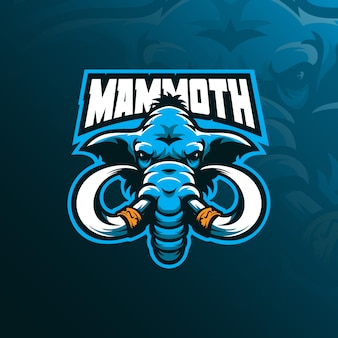 Mammut maskottchen logo