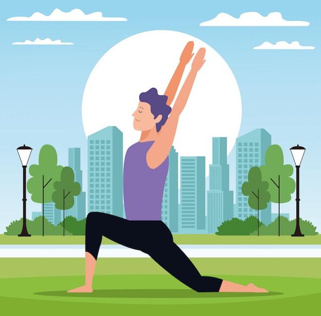 Man yoga-posen