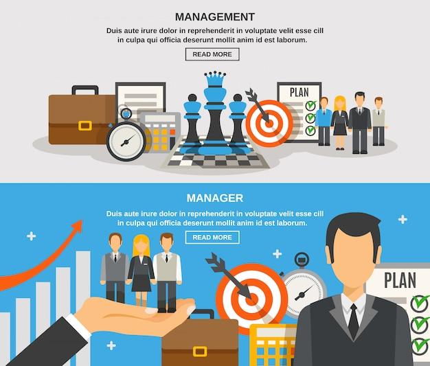 Management-banner-set