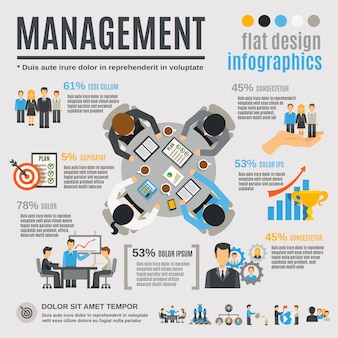 Management-infografik-set