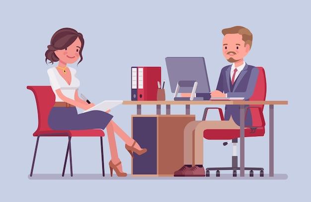 Management-meeting zur erteilung von informationsanweisungen
