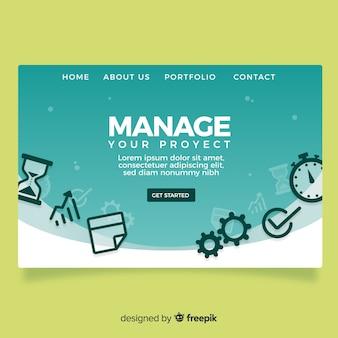 Management-zielseite