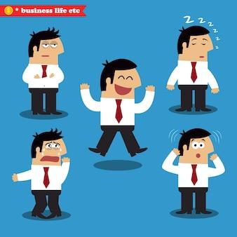 Manager emotionen in posen