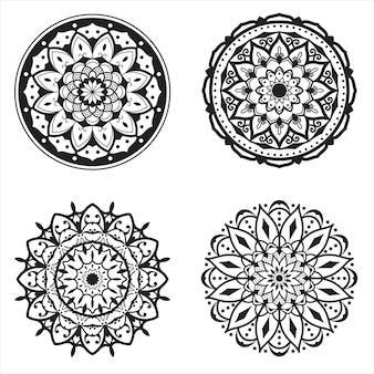 Mandala art dekoratives hintergrundpaket