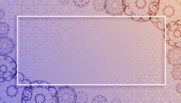 Mandala-arthintergrund mit textraumdesign